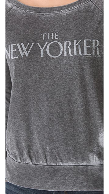 Chaser The New Yorker Long Sleeve Raglan Top