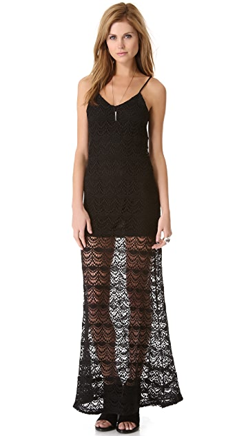 Chaser Spanish Lace Maxi Dress
