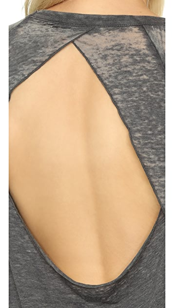 Chaser Open Back Short Sleeve Tee