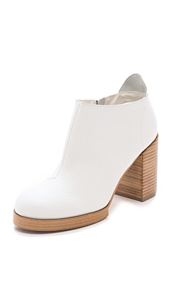Cheap Monday Layer Chunky Heel Booties
