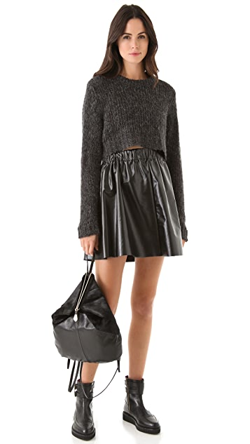 Cheap Monday Float Faux Leather Skirt