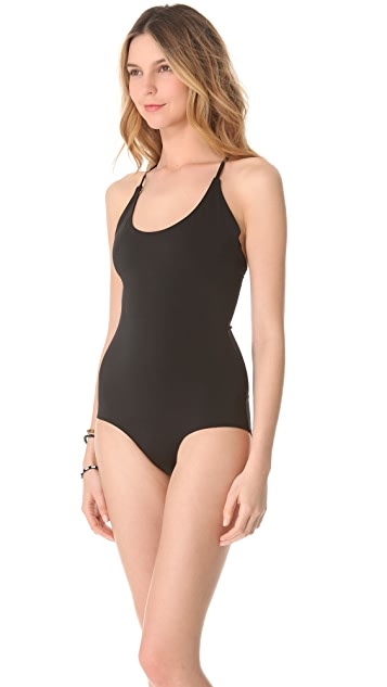Cheap Monday T Back One Piece Swimsuit