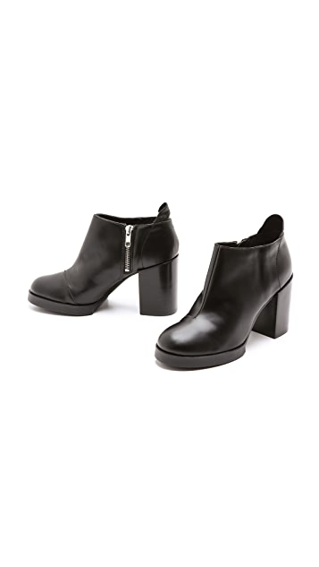 Cheap Monday Layer Booties on Chunky Heel