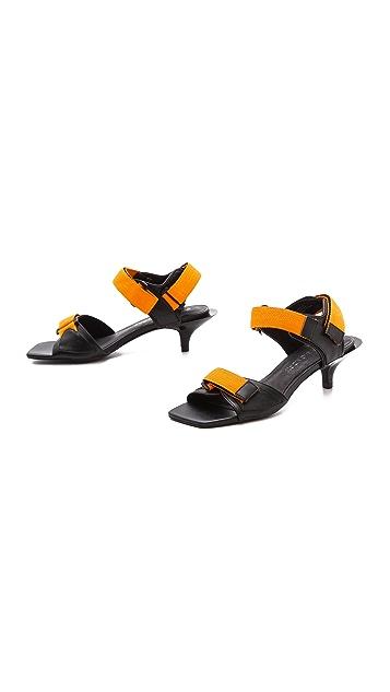 Cheap Monday Kitten Heel Velcro Sandals