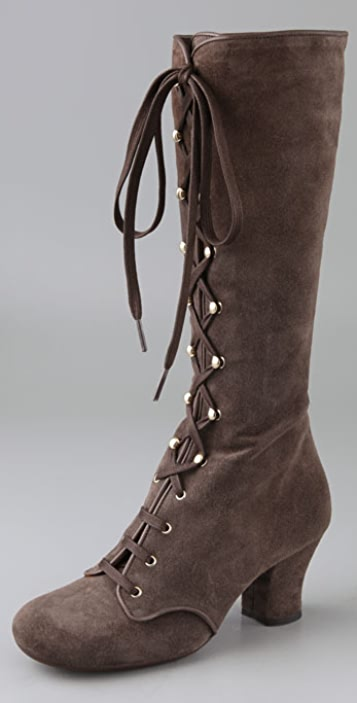 Chie Mihara Shoes Quechu Lace Up Suede
