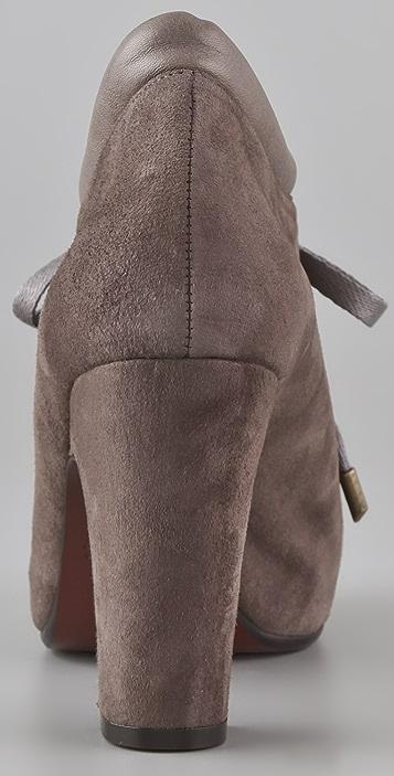 Chie Mihara Shoes Olga Suede Platform Booties