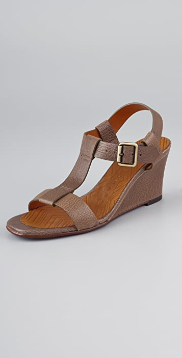 Chie Mihara Shoes Ferran T Strap Wedge Sandals