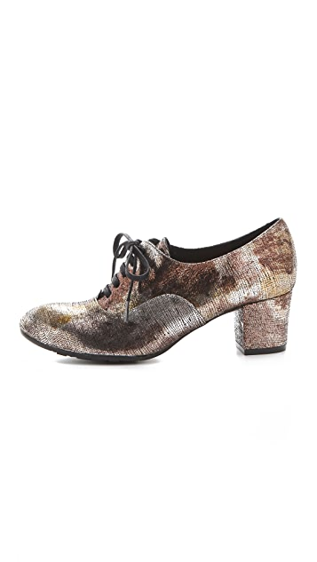 Chie Mihara Shoes Exito Metallic Oxfords