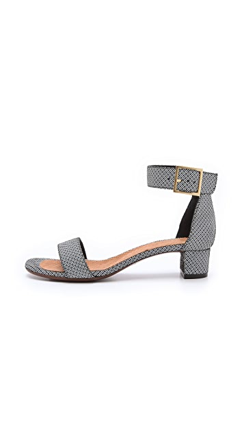 Chie Mihara Shoes Yves Print Suede Sandals