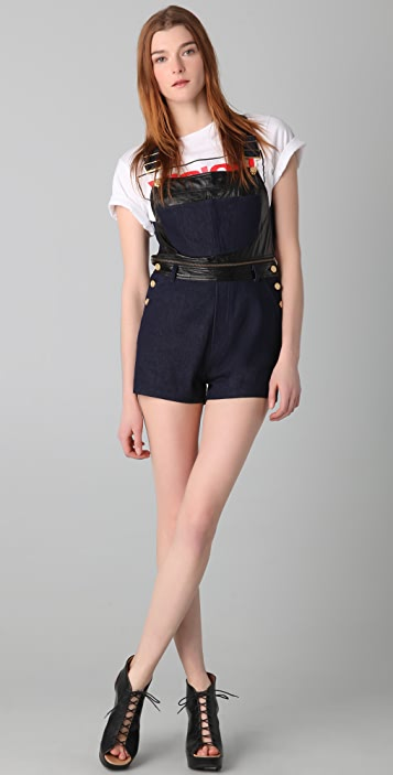 Chloe Sevigny for Opening Ceremony Zip Off Overall Shorts
