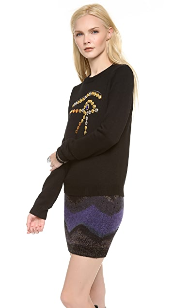 Chloe Sevigny for Opening Ceremony Eye Embellishment Sweater