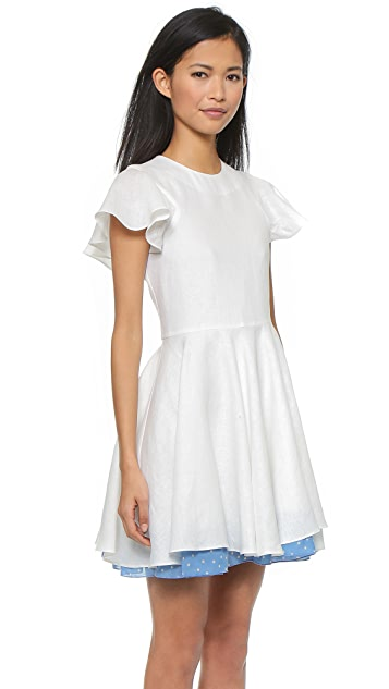 Chloe Sevigny for Opening Ceremony Walker Linen Puff Sleeve Dress