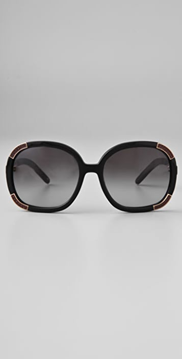Chloe Myrte Cuir Sunglasses