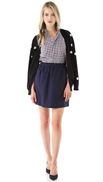 Chinti and Parker Flannel Skirt