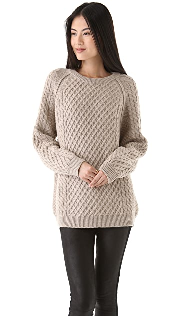 Chinti and Parker Aran Sweater