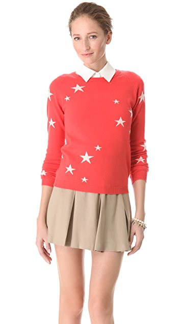 Chinti and Parker Intarsia Star Cashmere Sweater