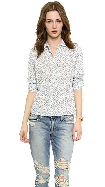 Chinti and Parker Sketchy Star Print Shirt