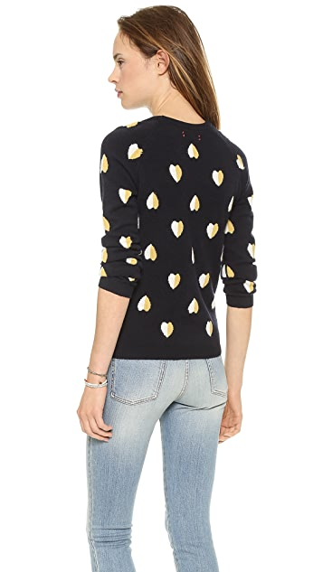 Chinti and Parker Queen of Hearts Cashmere Sweater