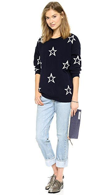 Chinti and Parker Star Outline Sweater