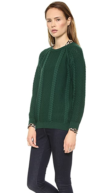 Chinti and Parker Boxy Aran Sweater