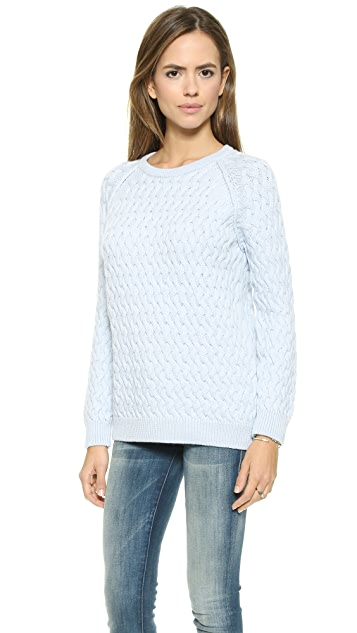 Chinti and Parker Lattice Aran Sweater