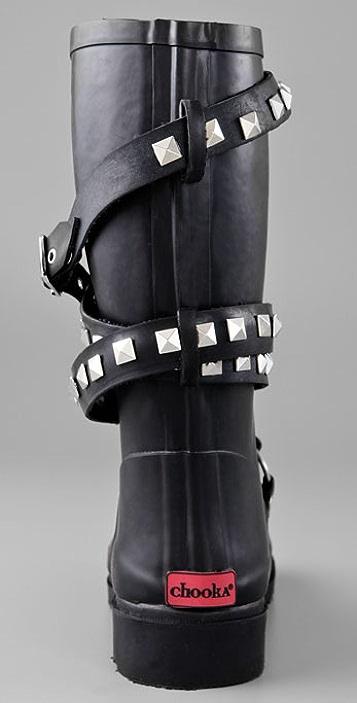 Chooka Moto Studded Rain Boots