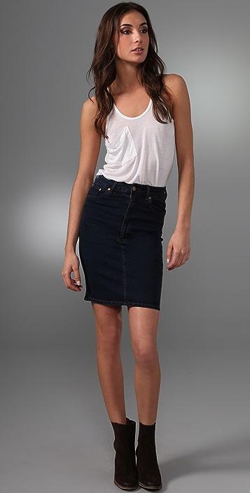CHARLEY 5.0 Skinny Denim Skirt