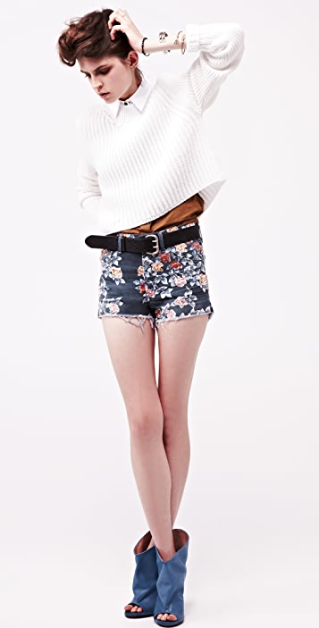 Citizens of Humanity Chloe Floral Cutoff Shorts