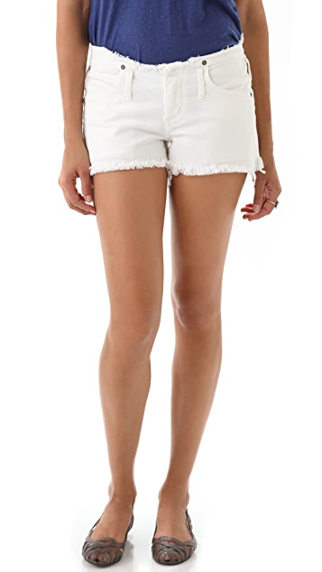 Citizens of Humanity Tangier Shorts with Cutoff Waistband
