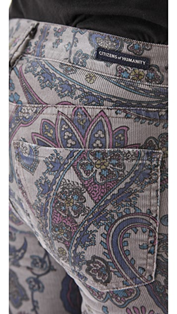 Citizens of Humanity Thompson Siam Paisley Corduroy Pants