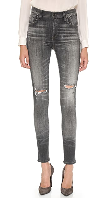 Citizens of Humanity Carlie High Rise Skinny Jeans
