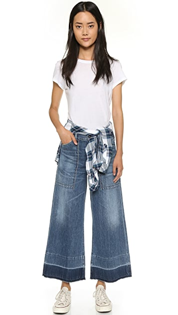 Citizens of Humanity Melanie Cropped Wide Leg Jeans