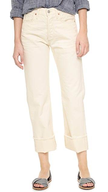 Citizens of Humanity Укороченные свободные джинсы Parker с манжетами