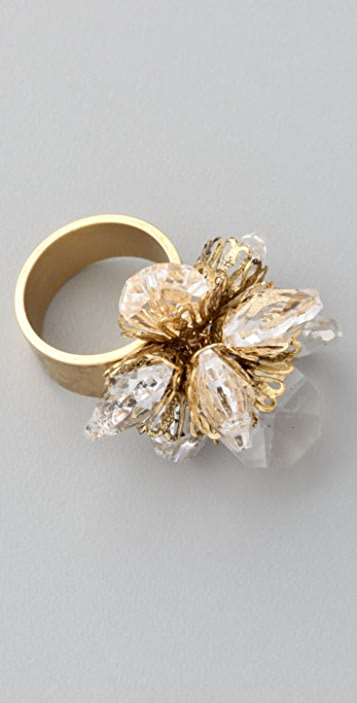 Citrine by the Stones Crystal Ring