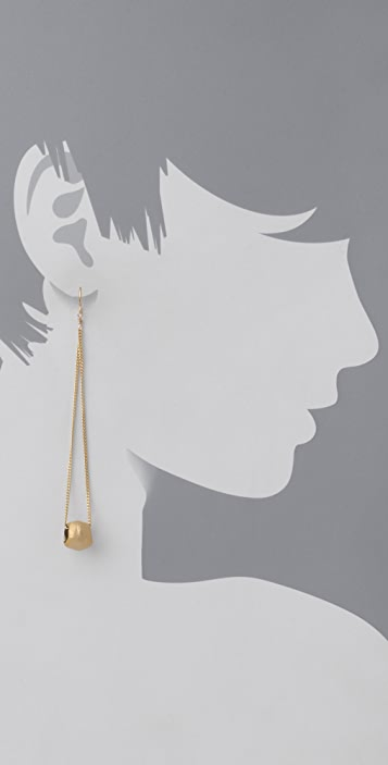 Citrine by the Stones Long Dot Earrings