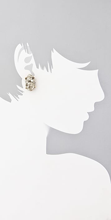 Citrine by the Stones Pyrite Post Earrings