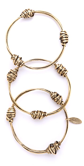 Citrine by the Stones Wire Nugget Bangles