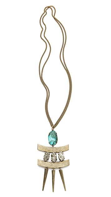 Citrine by the Stones Toltec Pendant Necklace