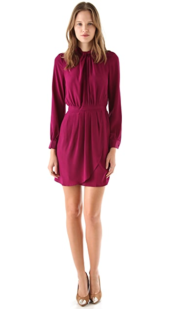 Charlie Jade Long Sleeve Tie Neck Dress