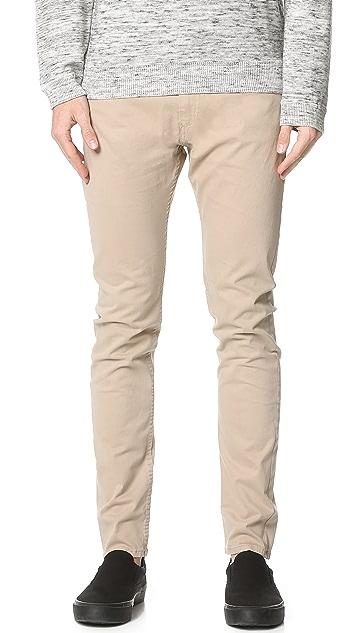 Calvin Klein Jeans Taper Leg Sateen Pants