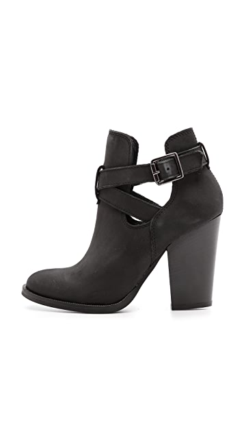 Carvela Kurt Geiger Shiling Open Buckle Booties