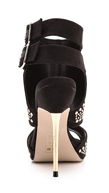 Carvela Kurt Geiger Gyrate Studded Cutout Sandals