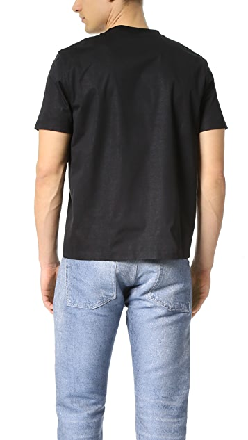 Calvin Klein Collection Lane Bonded Technical Jersey Tee