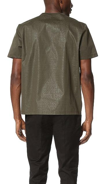 Calvin Klein Collection Laeski Bonded Cotton Tee