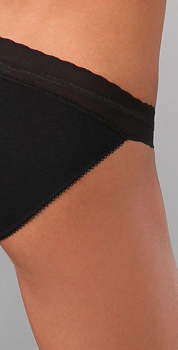 Calvin Klein Underwear Lace & Cotton Bikini Briefs