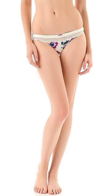 Calvin Klein Underwear Tonal Roses Bikini Briefs