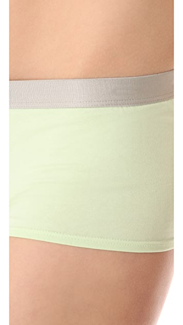 Calvin Klein Underwear Metallic Chrome Boy Shorts
