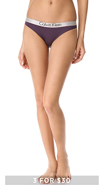 Calvin Klein Underwear Metallic Chrome Micro Bikini