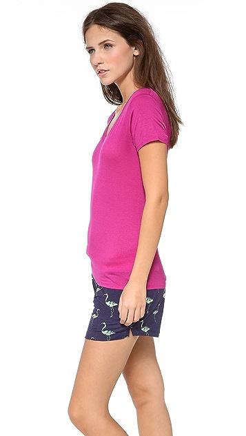 Calvin Klein Underwear Cap Sleeve Layering Tee
