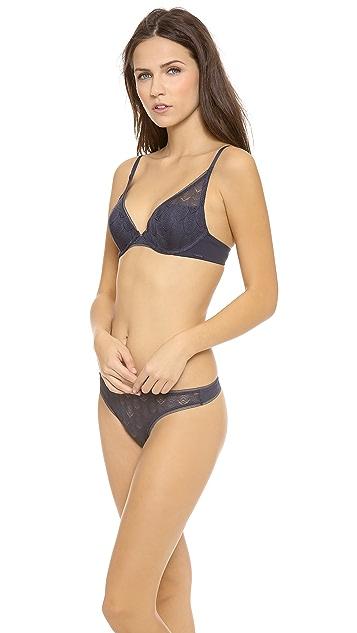 Calvin Klein Underwear Evoke Plunge Push Up Bra